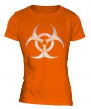Radioactive Distressed Print Ladies T-Shirt
