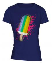 Gay Pride Ice Lolly Ladies T-Shirt