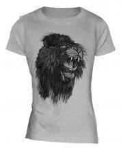 Roaring Lion Sketch Ladies T-Shirt