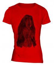 Afghan Hound Sketch Ladies T-Shirt