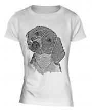 Beagle Sketch Ladies T-Shirt