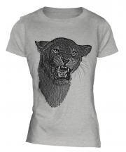 Lioness Roaring Sketch Ladies T-Shirt