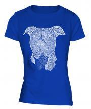 Staffordshire Terrier Sketch Ladies T-Shirt