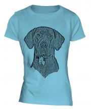Great Dane Sketch Ladies T-Shirt