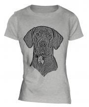 Great Dane Sketch Ladies T-Shirt