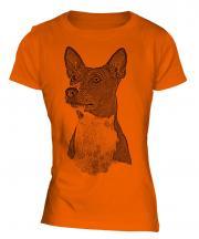 Basenji Sketch Ladies T-Shirt