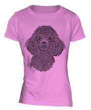 Poodle Sketch Ladies T-Shirt