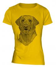 Labrador Retriever Sketch Ladies T-Shirt