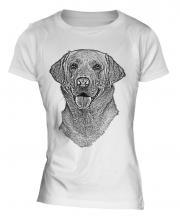 Labrador Retriever Sketch Ladies T-Shirt