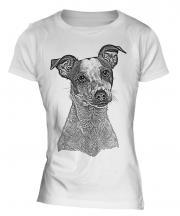 Jack Russell Terrier Sketch Ladies T-Shirt