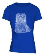 Havanese Sketch Ladies T-Shirt