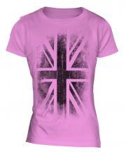 Union Jack Faded Print Ladies T-Shirt