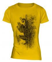 Welsh Flag Faded Print Ladies T-Shirt