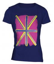 Pop Art Union Jack Ladies T-Shirt