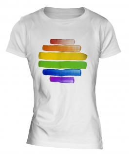 Gay Pride Watercolour Ladies T-Shirt