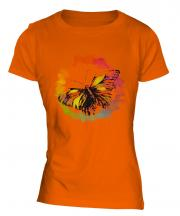 Butterfly Watercolour Ladies T-Shirt