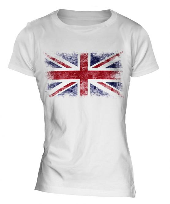 Union Jack Distressed Flag Ladies T-Shirt