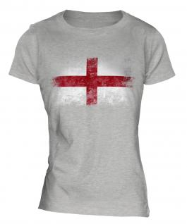 England St George Distressed Flag Ladies T-Shirt