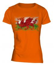 Wales Distressed Flag Ladies T-Shirt