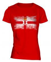 Northern Ireland Distressed Flag Ladies T-Shirt