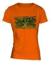 Adygea Distressed Flag Ladies T-Shirt