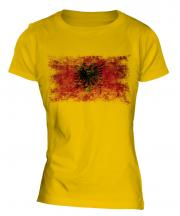 Albania Distressed Flag Ladies T-Shirt