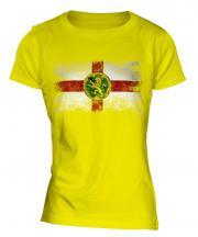 Alderney Distressed Flag Ladies T-Shirt