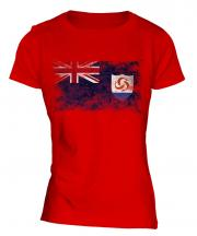 Anguilla Distressed Flag Ladies T-Shirt