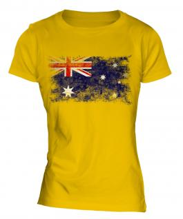 Australia Distressed Flag Ladies T-Shirt