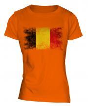 Belgium Distressed Flag Ladies T-Shirt