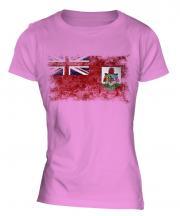 Bermuda Distressed Flag Ladies T-Shirt