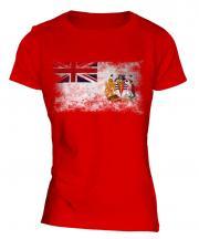British Antartic Territory Distressed Flag Ladies T-Shirt