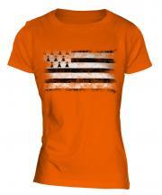 Brittany Distressed Flag Ladies T-Shirt