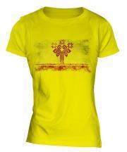 Chuvashia Distressed Flag Ladies T-Shirt