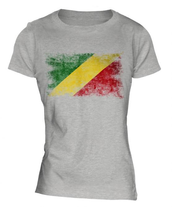 Congo Distressed Flag Ladies T-Shirt