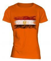 Egypt Distressed Flag Ladies T-Shirt