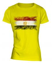 Egypt Distressed Flag Ladies T-Shirt