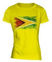Guyana Distressed Flag Ladies T-Shirt