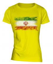 Iran Distressed Flag Ladies T-Shirt