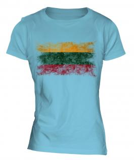 Lithuania Distressed Flag Ladies T-Shirt