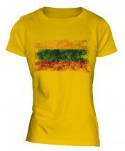 Lithuania Distressed Flag Ladies T-Shirt