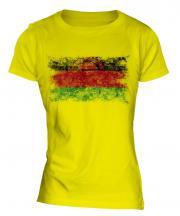 Malawi Distressed Flag Ladies T-Shirt