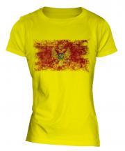 Montenegro Distressed Flag Ladies T-Shirt