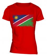 Namibia Distressed Flag Ladies T-Shirt