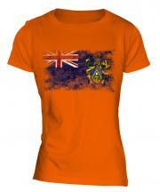 Pitcairn Islands Distressed Flag Ladies T-Shirt