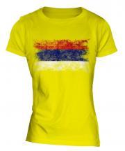 Republika Srpska Distressed Flag Ladies T-Shirt