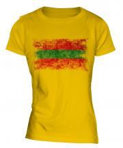 Transnistria Distressed Flag Ladies T-Shirt