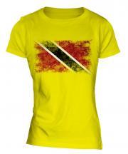 Trinidad And Tobago Distressed Flag Ladies T-Shirt