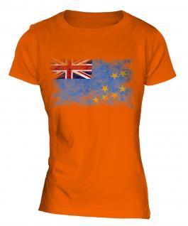Tuvalu Distressed Flag Ladies T-Shirt