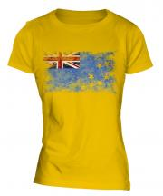 Tuvalu Distressed Flag Ladies T-Shirt